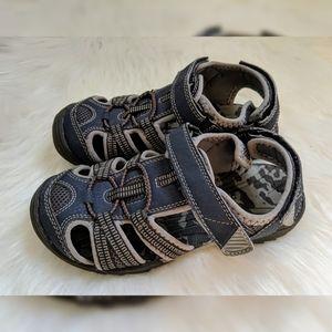 Sonoma Blue & Gray Fisherman Sandals - Boys Sz 1